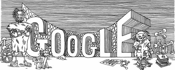 Google doodle 2011-11-23 Stanislaw Lem, Poland