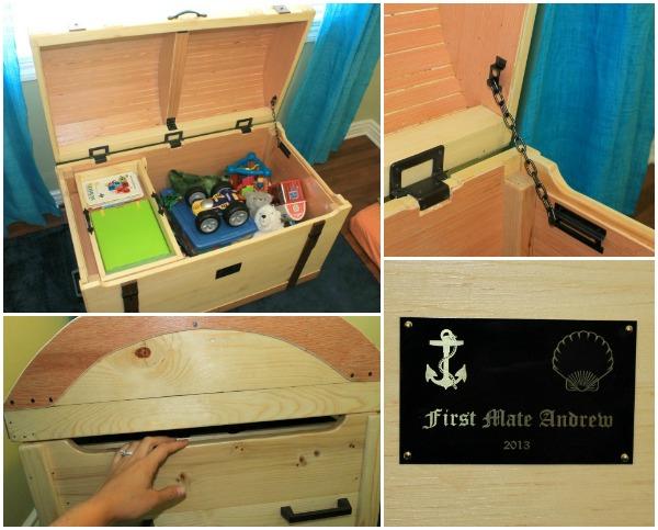 nautical treasure chest, toy storage solution