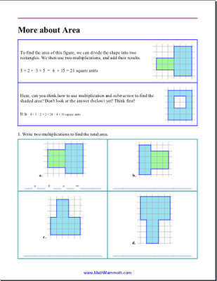 math worksheet : more about area  free worksheet for grade 3  homeschool math blog : 3rd Grade Math Area Worksheets