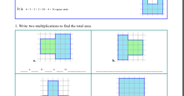 Homeschool Math Blog: More about Area - free worksheet for grade 3