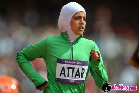 atlit olimpiade wanita pertama Arab Saudi