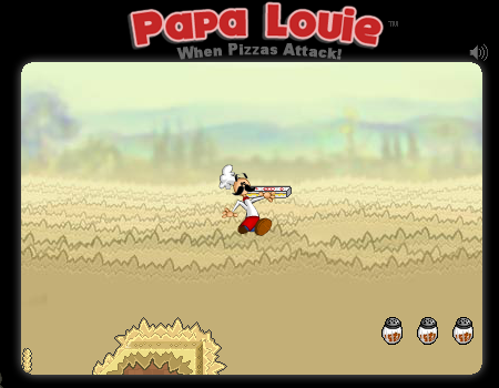 Jogos online, pizza. Papa Louie - When Pizzas Attack!