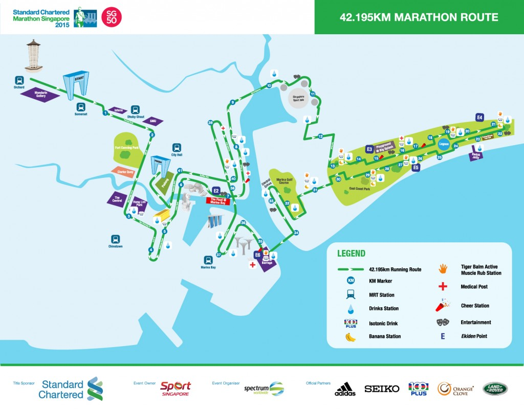 Route map (42.195km Marathon Route)
