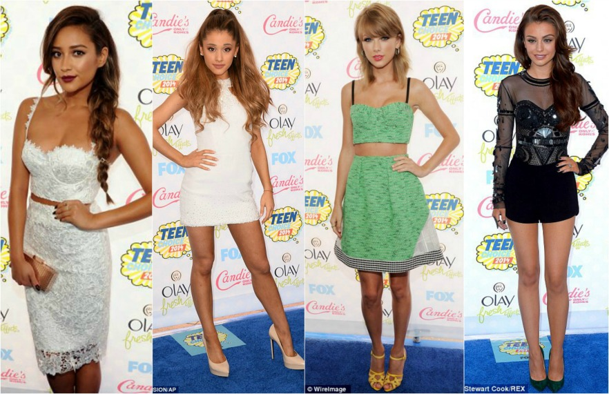 Best dressed, Teen Choice Awards 2014, Shay Mitchell, Ariana Grande, Taylor Swift, Cher Lloyd