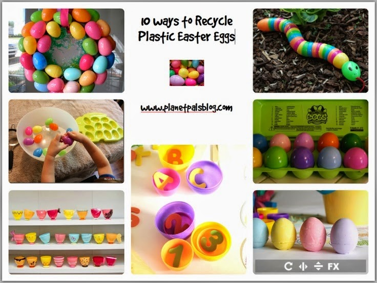 How to recycle plastic #Easter eggs