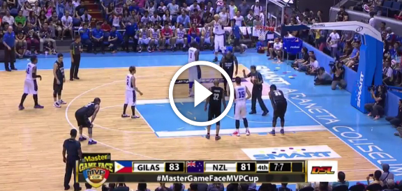 MVP Cup 2015: Gilas Pilipinas def. New Zealand, 84-81 (COMPLETE REPLAY VIDEO)
