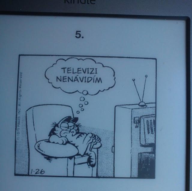 Kocour Garfield v akci aneb bojíte se komiksu ve čtečce?