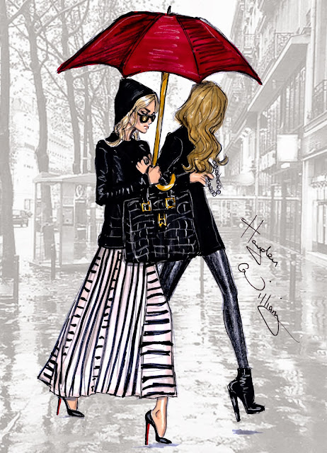 Hayden Williams Fashion Illustration The Olsen Twins