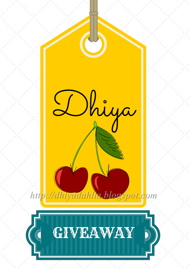 Dhiya's First Giveaway