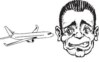 Fly og mann med flyskrekk