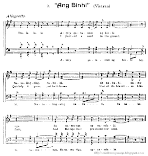 Filipino: Visayan Folk Song - Ang Binhi (Sheet Music)