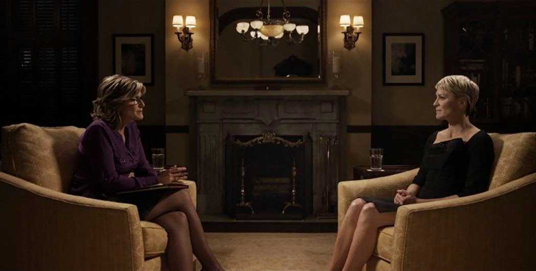 Claire Underwood reveals her rapist to Ashleigh Banfield