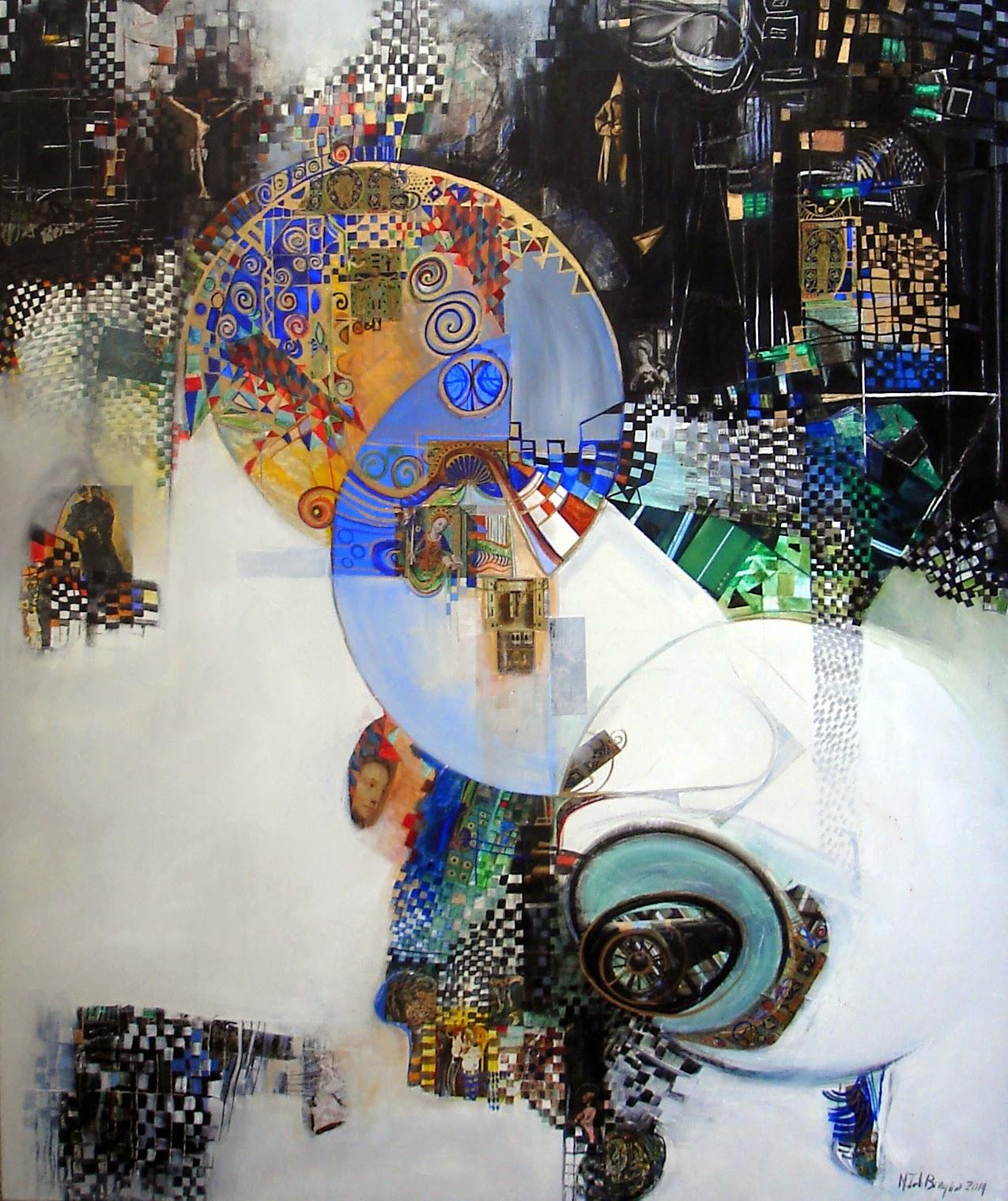 Rêveries du moine solitaire - 100 x 120 cm - 2014