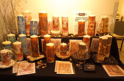 "Encaustic Candles ""Handcrafted for the Holidays"" at Studios on the Park, Paso Robles, © B. Radisavljevic"