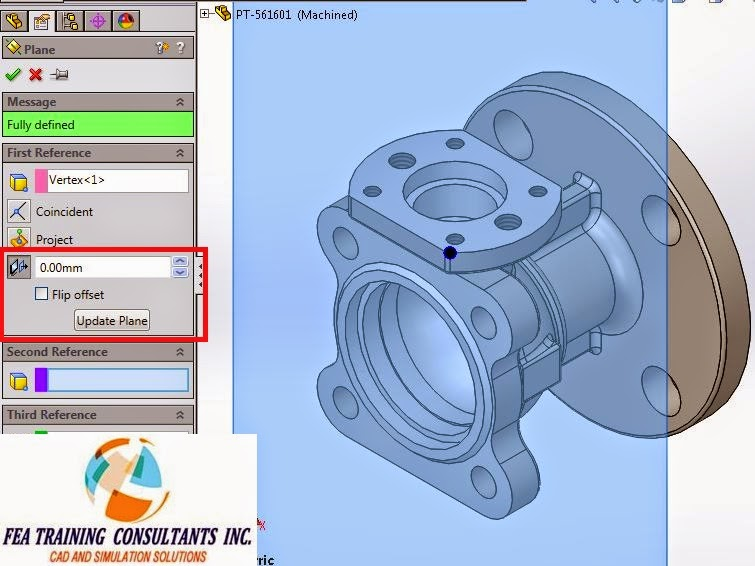 solidworks how to make a plane on a cylinder