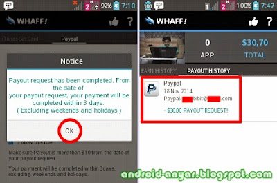 Payment request Whaff