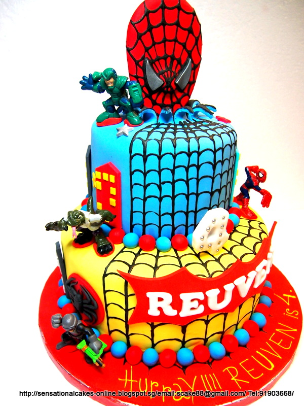 The Sensational Cakes Spiderman Design Cake Singapore