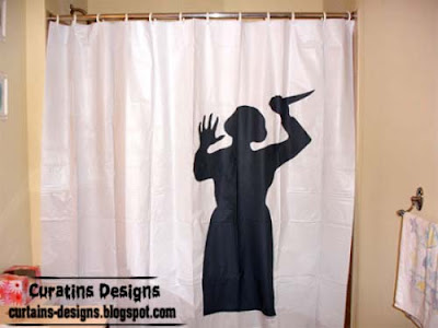 psycho shower curtain interesting 30 Creative shower curtains unique designs, styles, photos 2