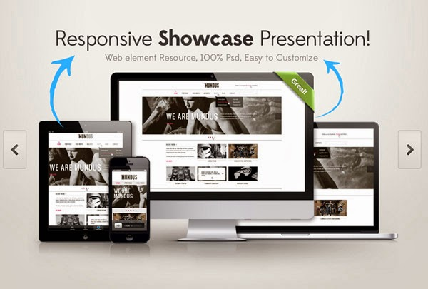 Ressources Web by Iscomigoo Webdesign: Templates supports, Responsive Showcase