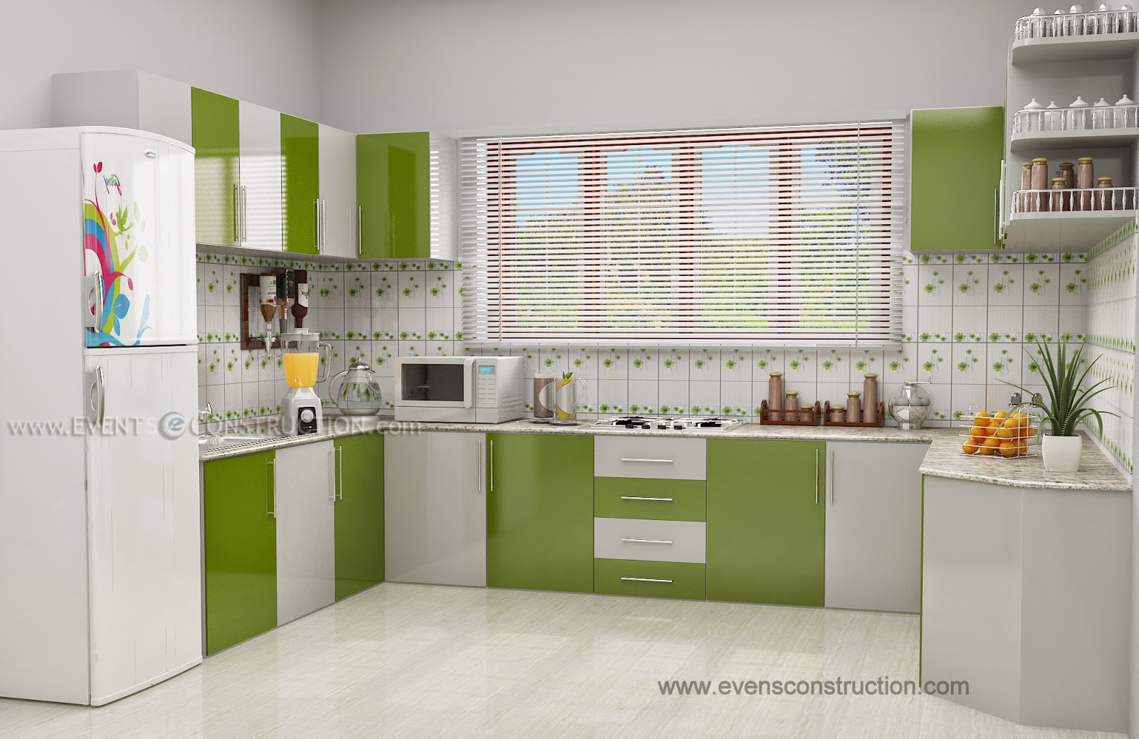 Kerala Kitchen Interior Design Part 39