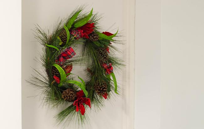Christmas Wreath UK Door