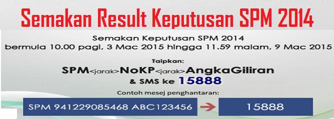 Semakan Result Keputusan SPM 2014