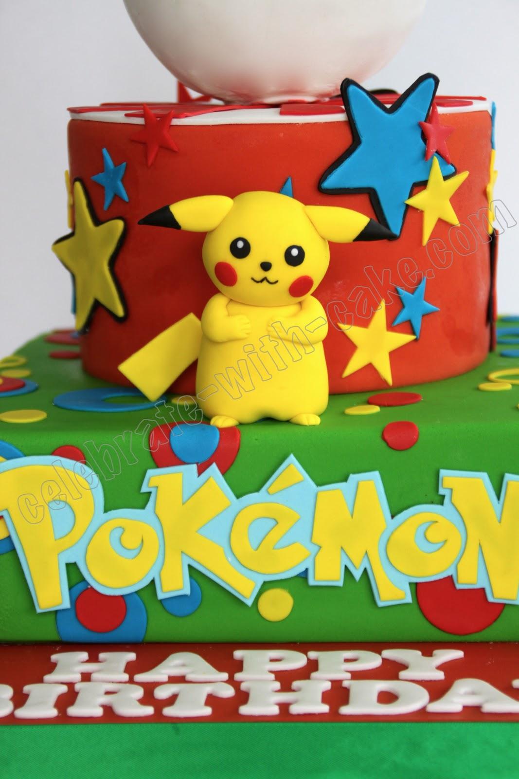Pikachu Birthday Cake Pikachu Pokemon Cake