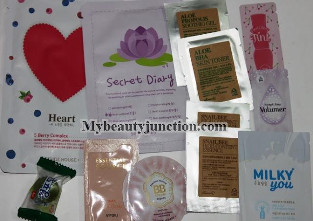 Korean cosmetics haul from W2Beauty including Etude House, Tony Moly, Holika Holika