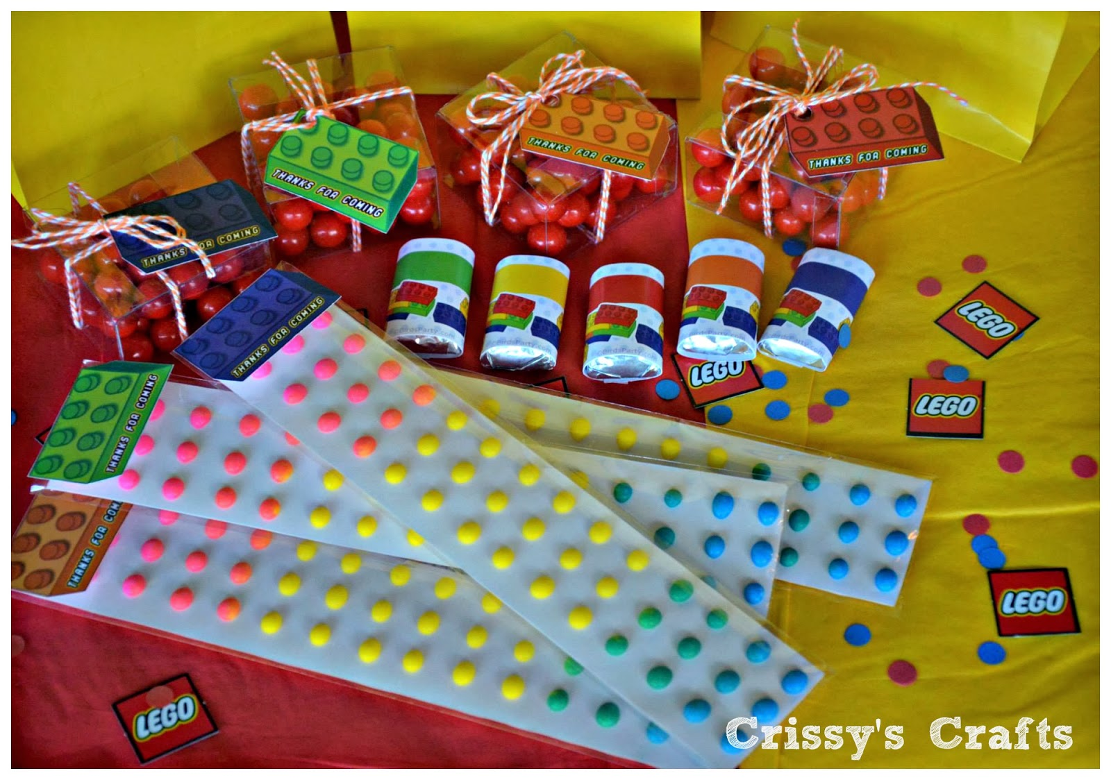 Crissy's Crafts: Lego Party Favor Ideas & Blog Hop