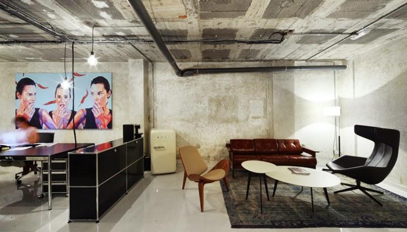 Heteruf designs oficina concepto mezcla de estilos dirty for Despacho estilo industrial