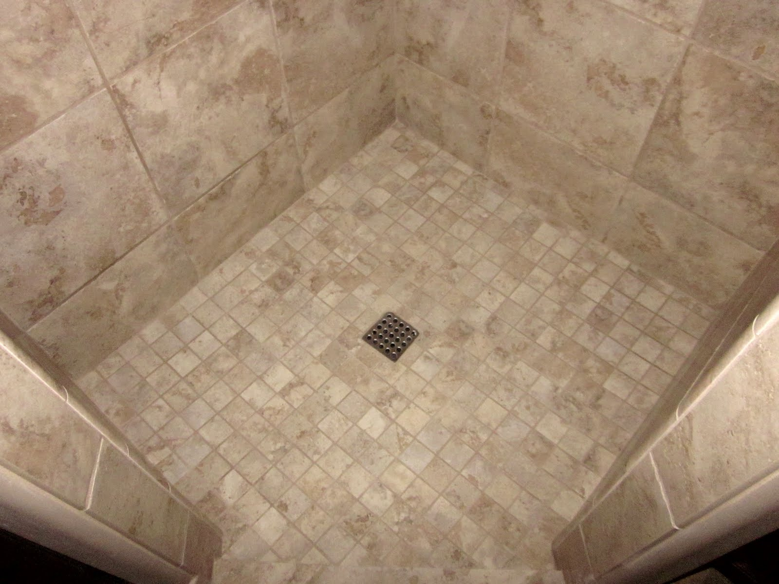 2x2 Mosaic Tile Shower Floor