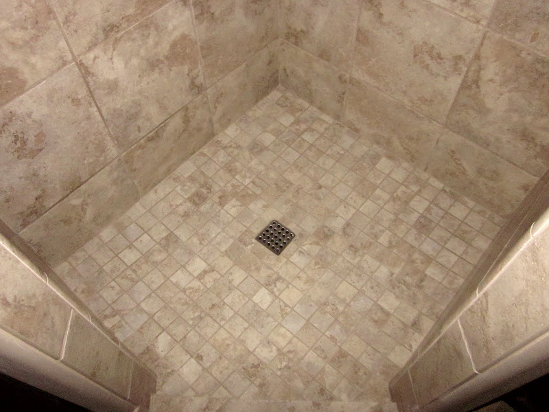 2x2 mosaic tile shower floor title=