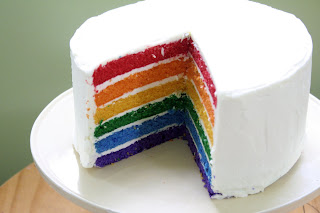 Resep rainbow Cake
