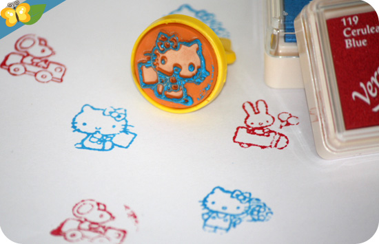 stamp set vintage Hello Kitty