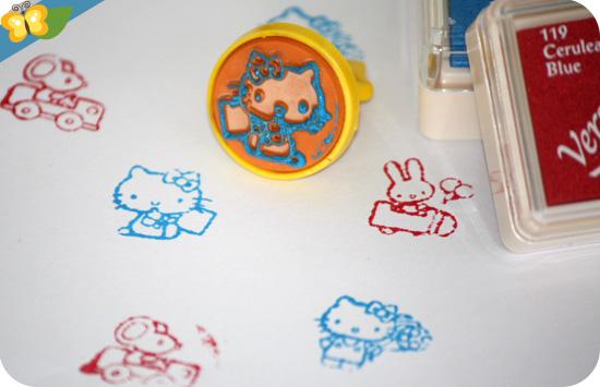 stamp set vintage Hello Kitty