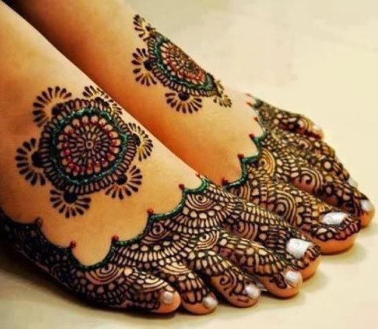 Feet Mehndi For Eid : Beautiful latest simple arabic pakistani indian bridal