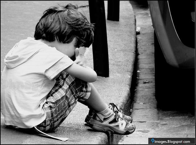Sad, alone, kid, boy