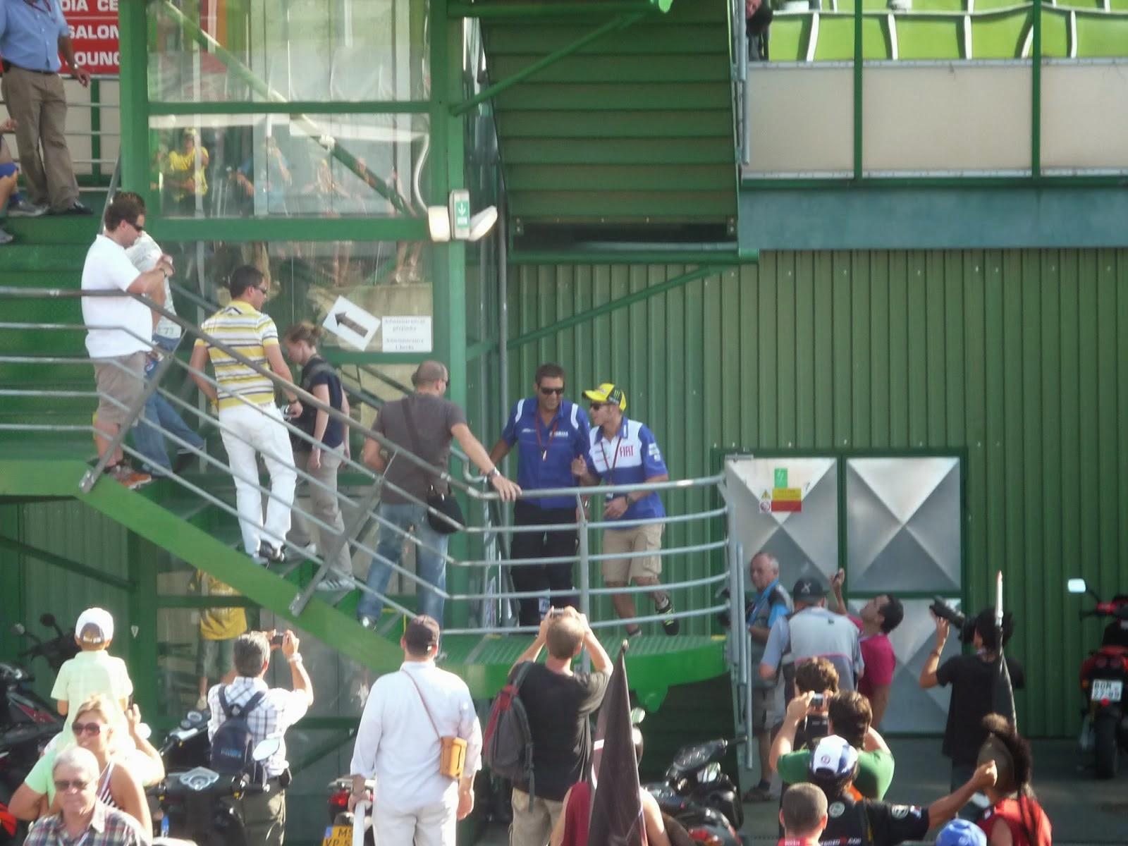 Valentino Rossi en el circuito de Brno