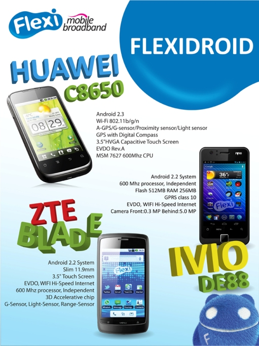 Handphone Android support EVDO