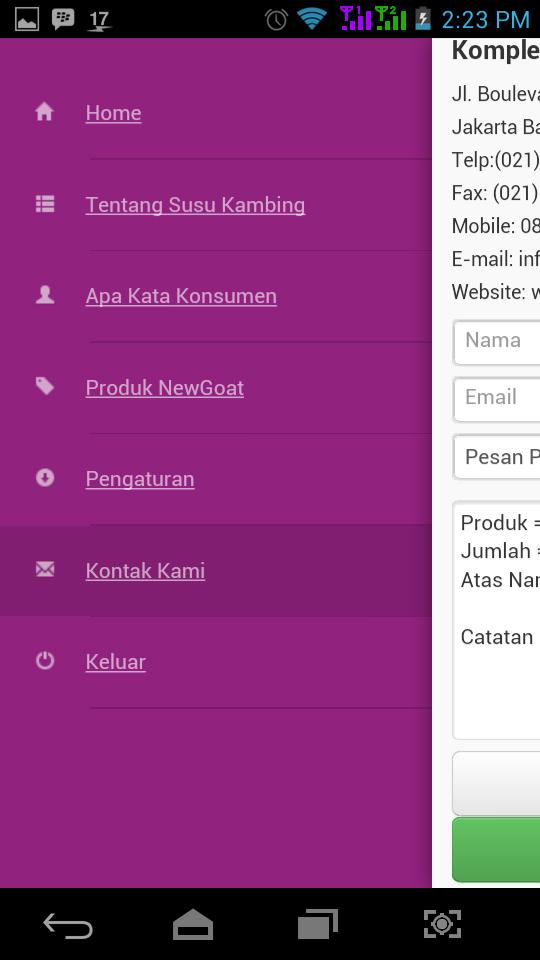 Aplikasi NewGOAT untuk Smartphone