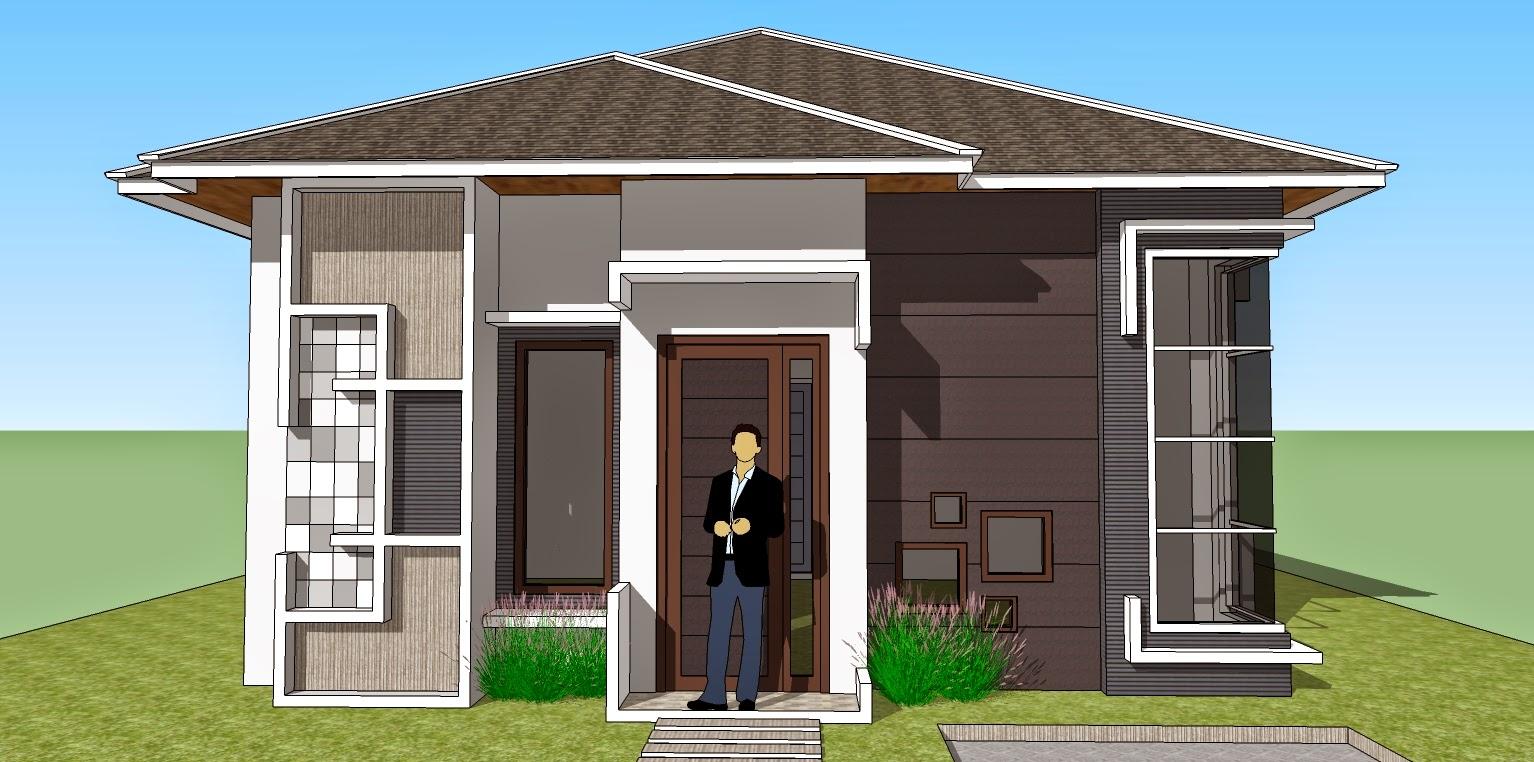 Desain Rumah Minimalis 1 Lantai Tampak Depan Gambar Foto Desain