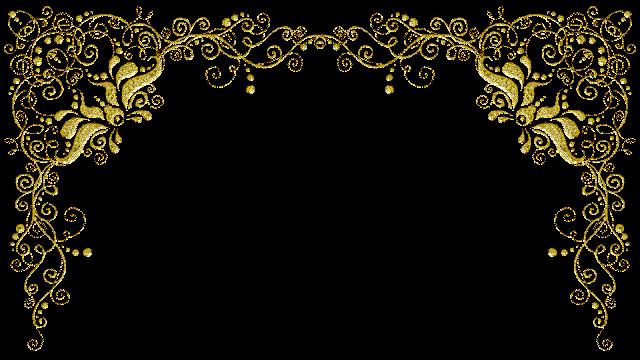 Molduras arabescos dourados 20 png
