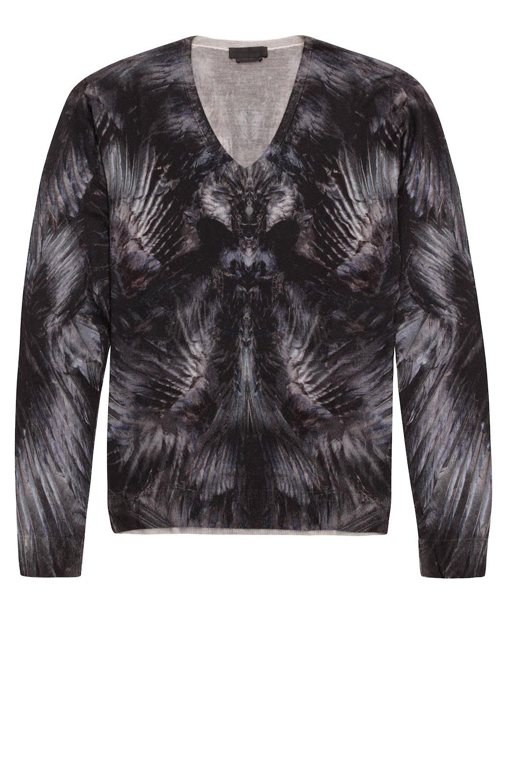 00O00 London Menswear Blog Drake 2012 MTV Video Music Awards Alexander McQueen Raven print sweater