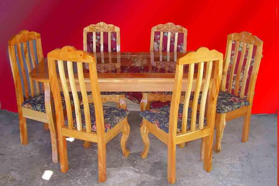 Muebles de tubo y madera 20170820211937 for Juego de muebles y comedor