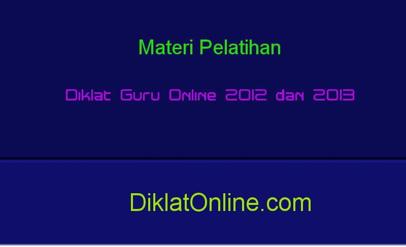 Materi Diklat Online