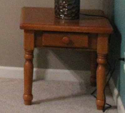 country, oak end table