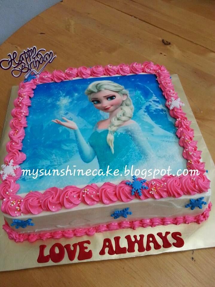 Edible Cake Pictures Frozen : Mysunshine Cake: Frozen cake