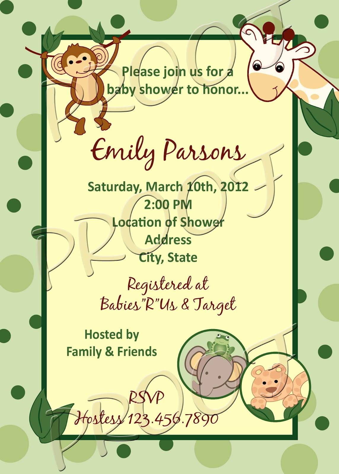 fanci prints by tiffany nojo jungle babies baby shower invitation