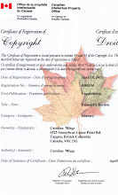 Certificate of Registation of Copyright