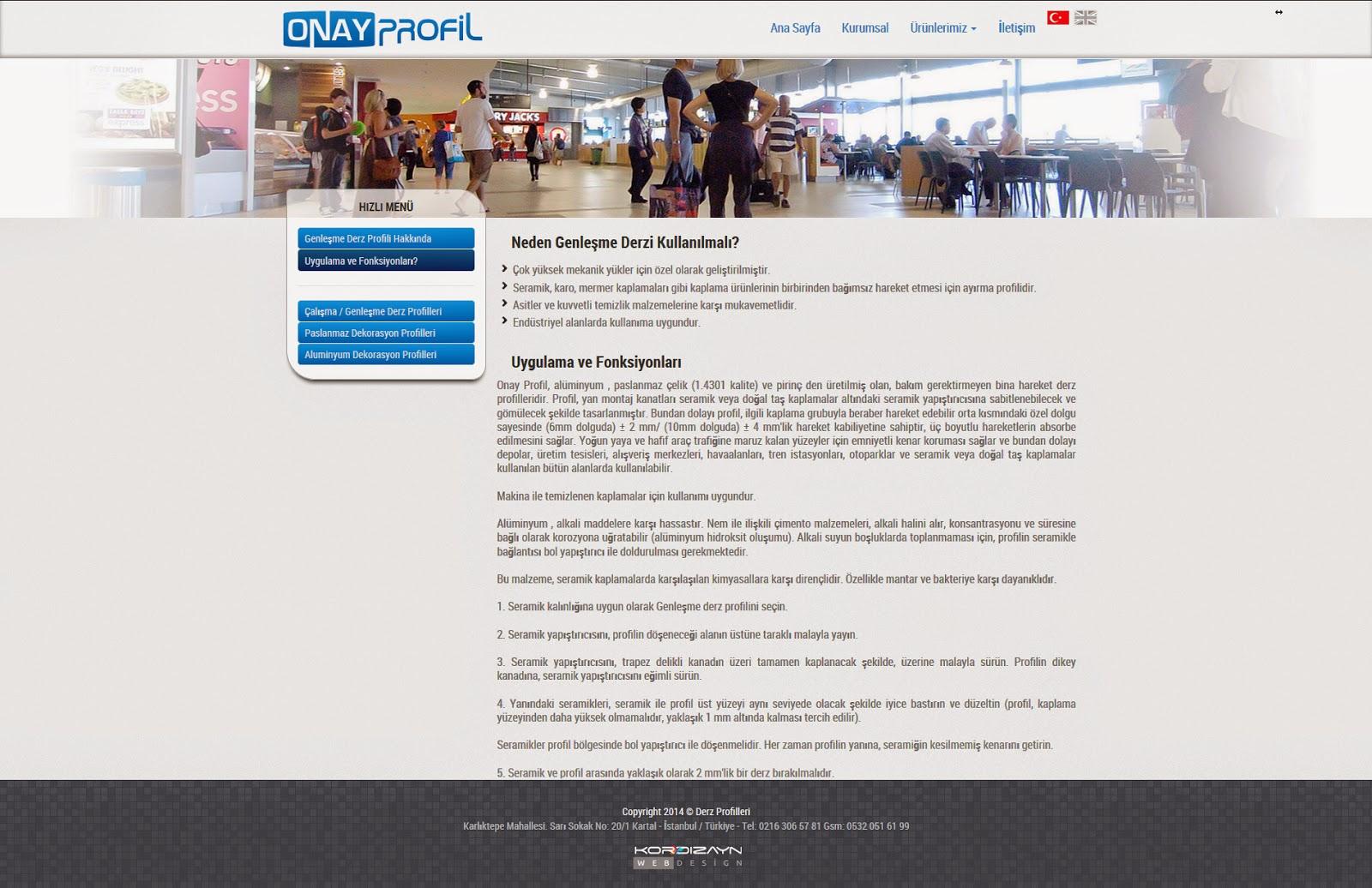 Onay Profil Alt Sayfa